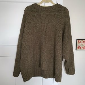 Aerie brown sweater